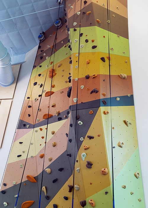 Indoor Rock-Climbing Wall